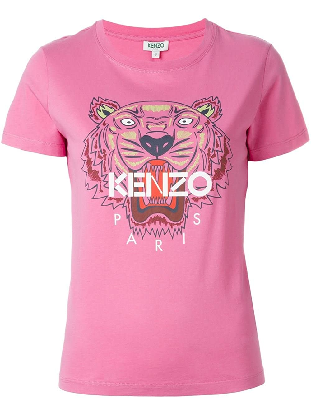 7711d68d Kenzo Women's Pink Tiger Head T-shirt wt Red Mouth (X-SMALL): Amazon.co.uk:  Clothing