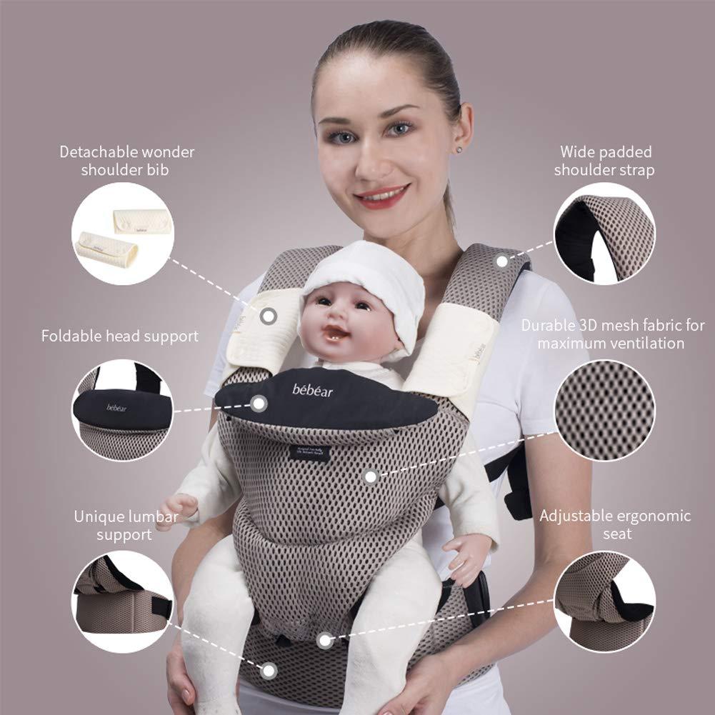 Dunkelblau Bebamour Babytrage f/ür Neugeborene Umarmen Babywickeltrage f/ür Neugeborene 7-25 Pfund 100/% Baumwolle