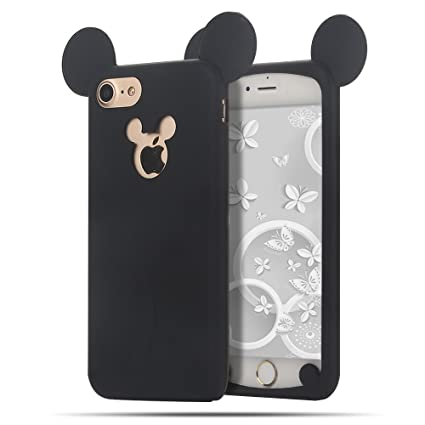 iPhone 7 / 8 Funda , Moevn Carcasa TPU Suave Silicona para Apple iPhone 7 / 8 , Case Cover Orejas de Mickey Mouse Slim Anti Rasguño Protección Funda ...
