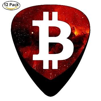 stremusic Bitcoin Logo Guitarra eléctrica 12 púas de celuloide de graves Música Instrumento