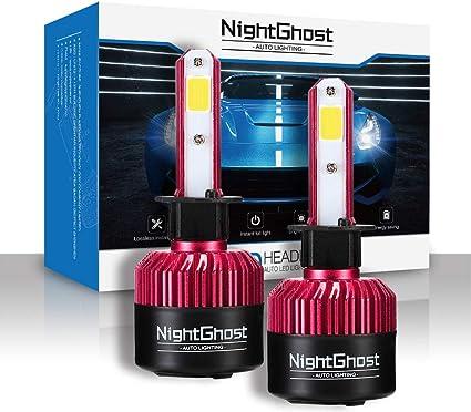 Set 6500K Blanc Froid Garantie de fabrication de 3 ans NIGHTEYE Voiture Ampoules LED Phare H4 72w 9000LM