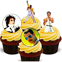 Made4You Freddie Mercury Queen – Decoración Comestible para Cupcakes – Oblea de pie para decoración de