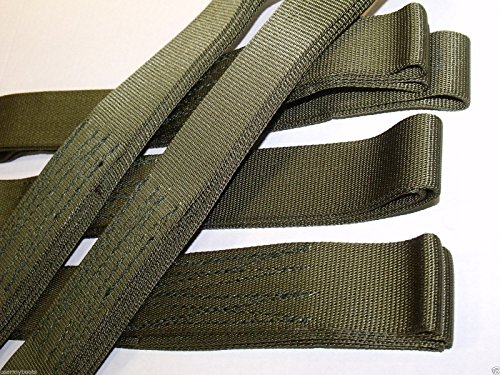 Price comparison product image NEW US Army Tactical Heavy Duty 5' CARGO ATV Recovery STRAP SLING Choker 9000 lb Tensile Strength Webbing Tree Saver - Nylon OD Olive Drab Green Tie Down Security Emergency by TyCa Industries