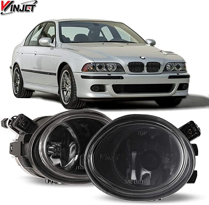 Walmeck 1 Pair Left /& Right Front Fog Light without Bulbs Replacement Kit for BMW E39 1999-2004