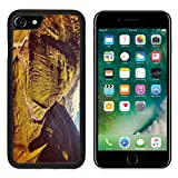 MSD Premium Apple iPhone 7 Aluminum Backplate Bumper Snap Case iPhone7 Vintage retro effect filtered hipster style travel image of Himalayan valley in Himalayas Lahaul valley Himachal Pradesh Ind