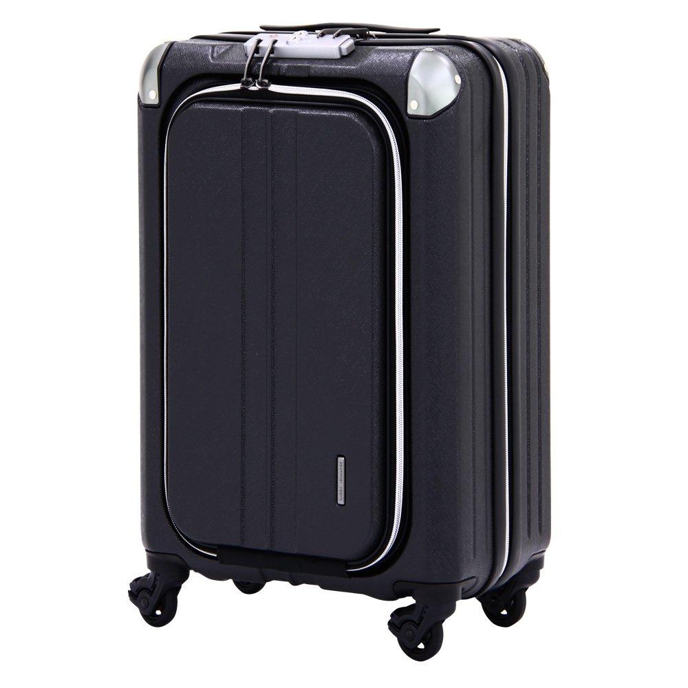 スーツケース ビジネスキャリー 大容量 機内持込可能 158cm 以内 アウトレット 訳あり スーツケース ビジネスキャリー ビジネスバッグ 機内持ち込み 可 キャリーバッグ キャリーノート PC SS サイズ 2日 3日 小型 超軽量 (ブラック)   B071RDQ9ML