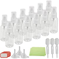 Fine Mist Spray Bottles,KAKOO 12 Pcs Transparent Travel Bottle Toiletries Liquid Containers for Cosmetic Makeup