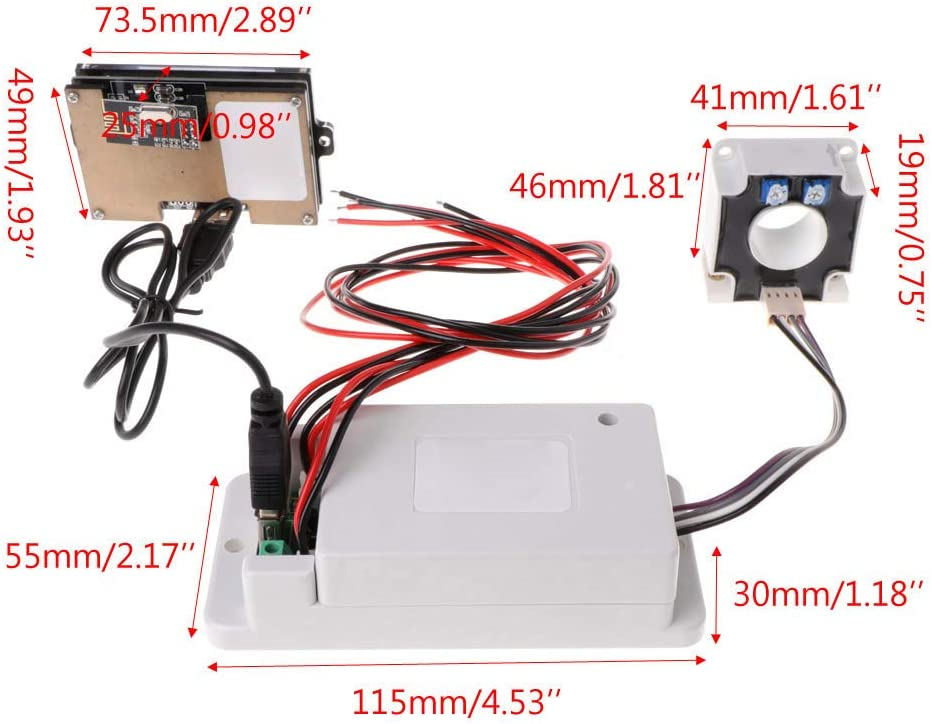 MIUSON DC 500V 100A 200A 500A Wireless Voltmeter Ammeter Coulometer Battery Power Meter 100a
