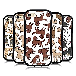 Head Case Designs Australian Cattle Dog Breed Patterns 8 Hybrid Case Compatible for iPhone 7 / iPhone 8 42