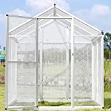 Bestmart INC LARGE White Aluminum Wire Bird Cage Parrot Cockatiel Macare Walk In Aviary W/4Peg NEW (Single Door)