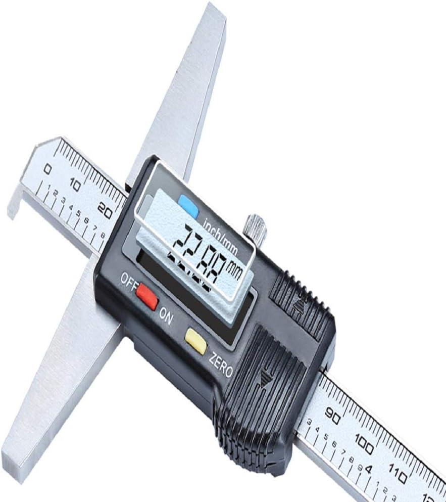 Amazon Com 0 300mm 12 Single Hook Digital Depth Vernier Caliper Micrometer Stainless Steel Electronic Digital Depth Gauge Home Improvement