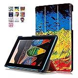Carcasas Lenovo Tab3 7 Essential Cuero,Ultra Slim Funda Case de Cuero para Tablet Lenovo Tab3 7 Essential Tab 3-710F Smart Cover Case Carcasa Piel con Stand Función