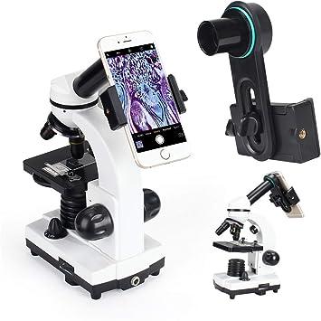 Microscopio lente teléfono celular adaptador con 20 x Miceoscopio ...