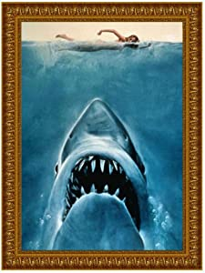 Diamond Painting Kits for Adults and Kids, Great Shark Animal 5D Full Drill Art Diamond Paintings by Number DIY Craft Decorative Pictures for Home Living Room Bedroom Bathroom