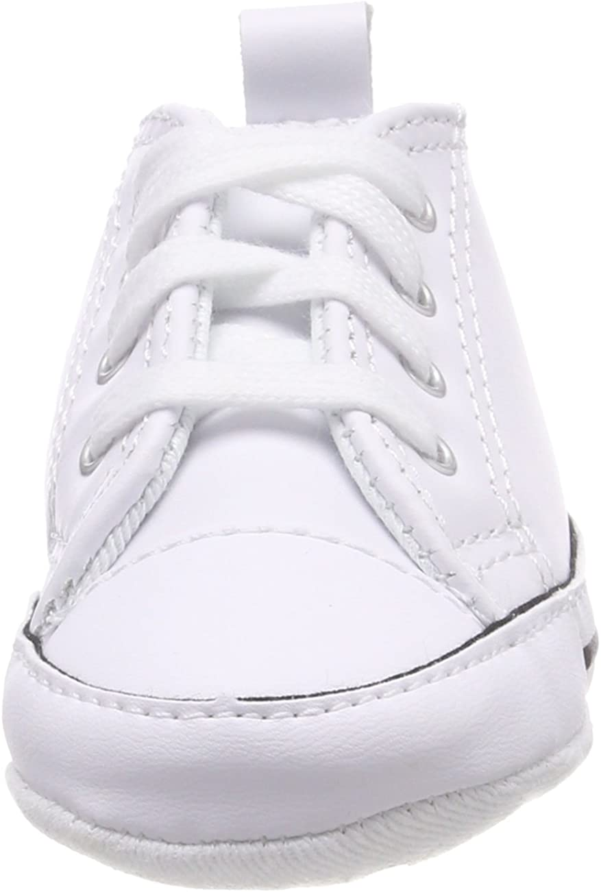 Converse First All Star Hi Chuck Taylor Leather Kids-Infant Shoes White 81229