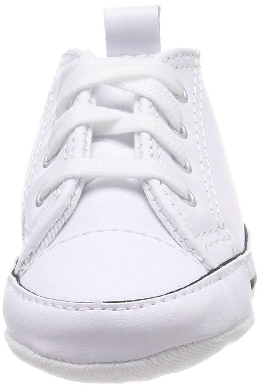 4eeba999be02fa CONVERSE NEWBORN CRIB WHITE LEATHER 81229 FIRST ALL STAR BABY SHOES SZ 1-4  Top Christmas gifts 2018