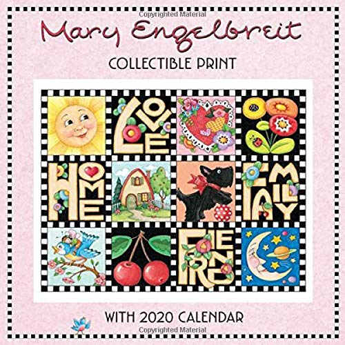 Mary Engelbreit 2020 Collectible Print with Wall Calendar (Calendar Mary Engelbreit)