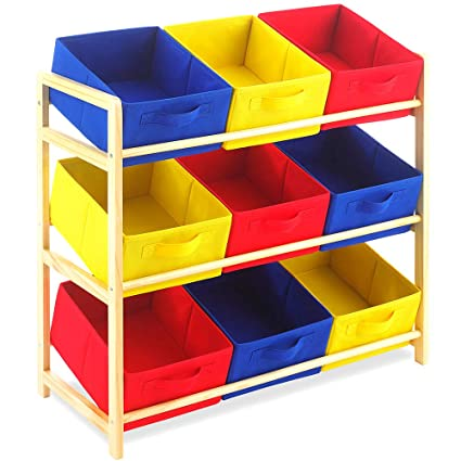 Kids Playroom Storage Cubbies Toys Organizer Toddler Childrens Storage  System Cabinet Chest Baskets Furniture For Girls