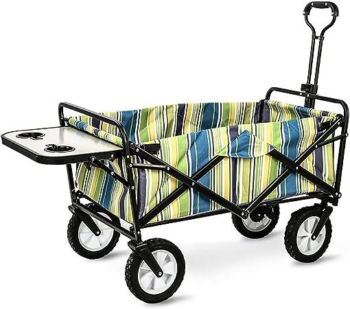 GARDEN CAR ZLMI Carro de jardín de Gran Capacidad de múltiples Funciones Carretilla portátil al Aire Libre Sit-up niños Tour Coche Camping Remolque de Carga 80Kg (con Tabla),C: Amazon.es: Hogar