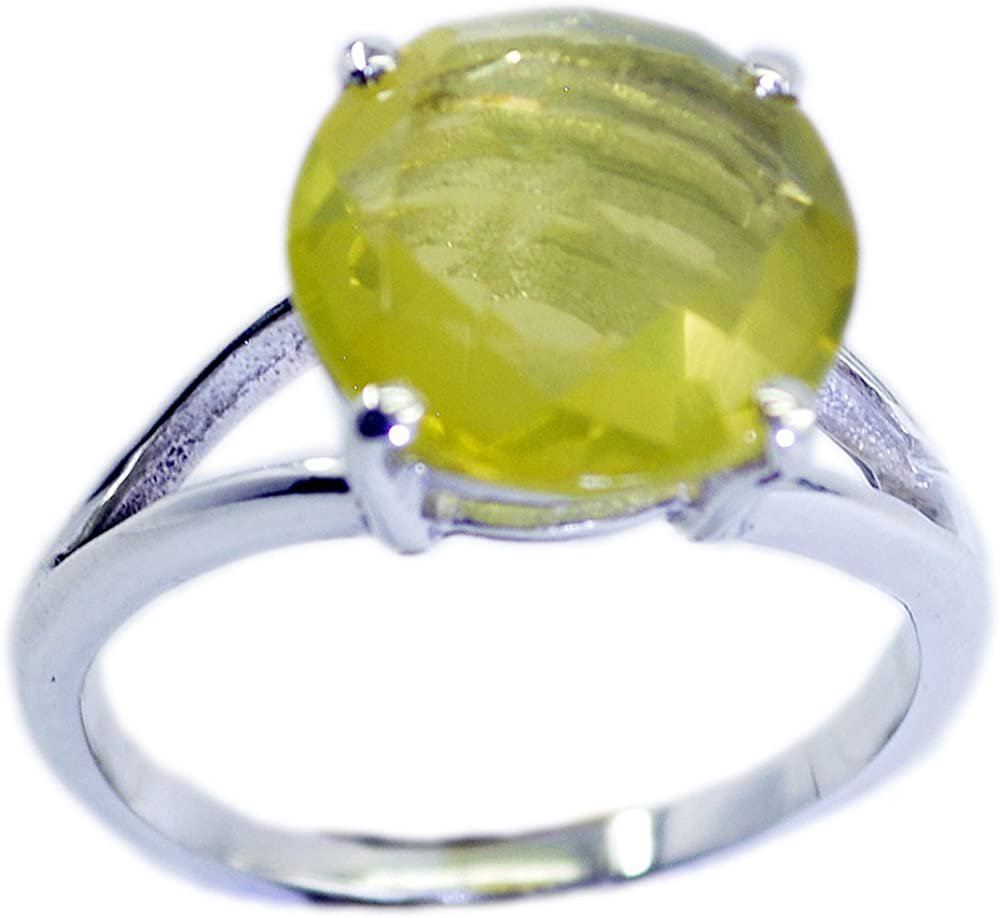 Lemon Quartz Ring,Sterling Square Ring,Yellow Stone Ring,Vintage Inspired,Artisan Silver Ring,Natural Stone Jewelry,Gift For Her