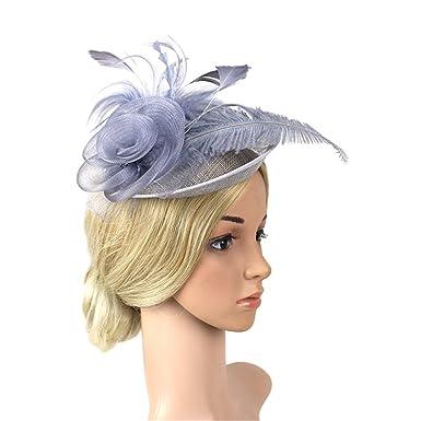 schnell verkaufend elegantes und robustes Paket am besten verkaufen ZYCC Sinamay Fascinato Blumenhut Feder Party Pillbox Hut ...