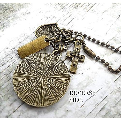 St. Luke Necklace, Patron Saint Confirmation Gift, Catholic Jewelry, Boys, Teens
