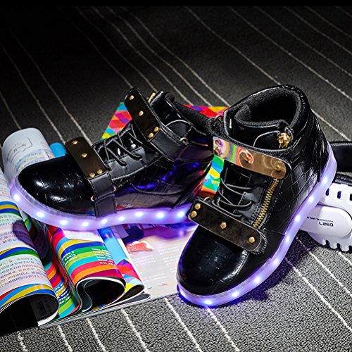 for Kids Sneakers Light Black Fashion up Boy Girls Kids Child Light Sneaker Up LED Adult LED Shoes POaXx4Yw