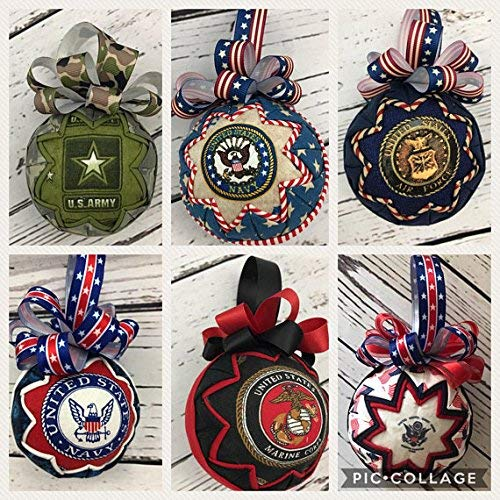 Military Ornament- Air Force, Army, Marines, Navy, Support Troops