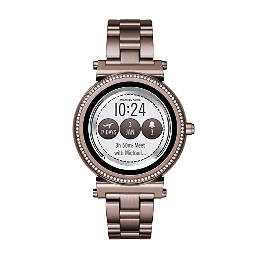 Michael Kors - Reloj Inteligente de Cuarzo para Mujer, Chapado en Acero Inoxidable, Color