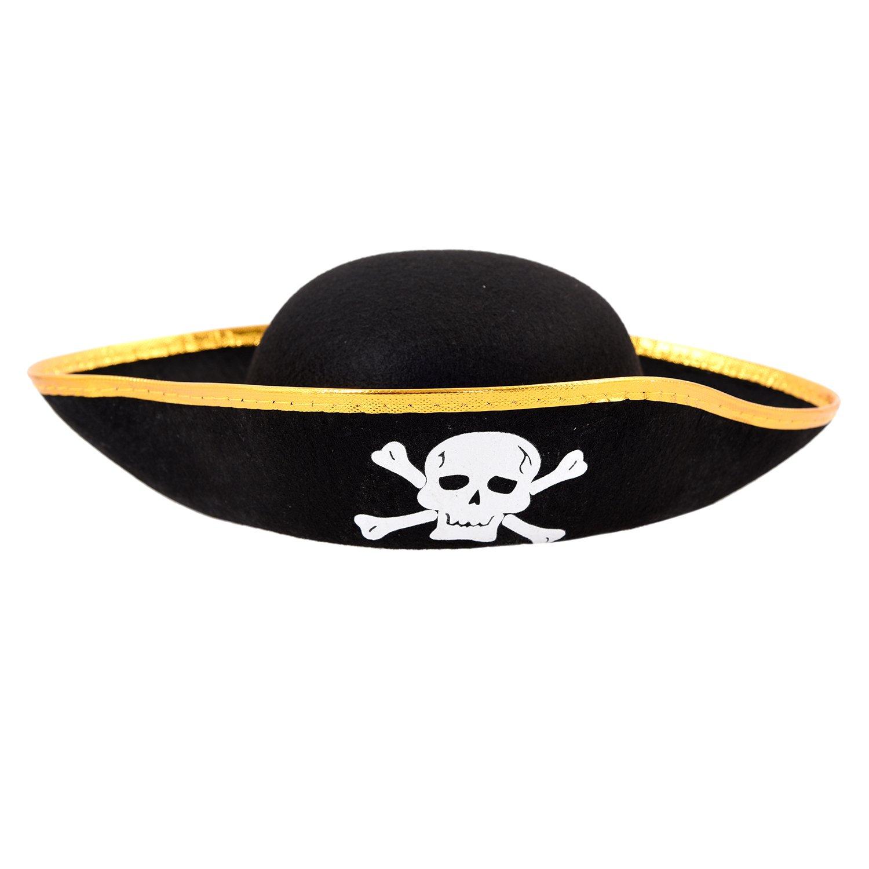 SODIAL(R) Gorra Sombrero del cubo del pirata patron de craneo negro ...