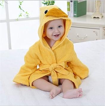 dfjd Bonita Forma Animal Bebé Toalla Baño Bebé Bata Algodón ...