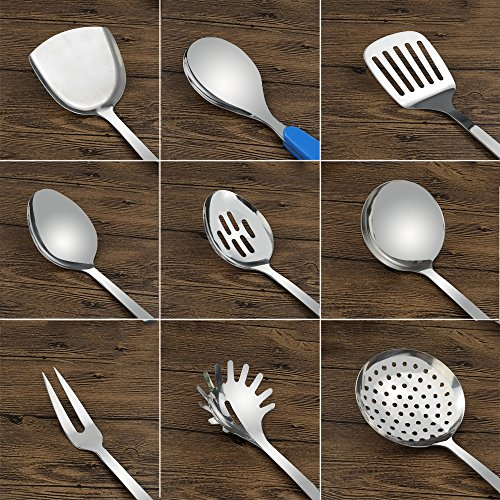Fiaze Stainless Steel Kitchen Cooking Utensil Set, 10-Piece by Fiaze (Image #2)