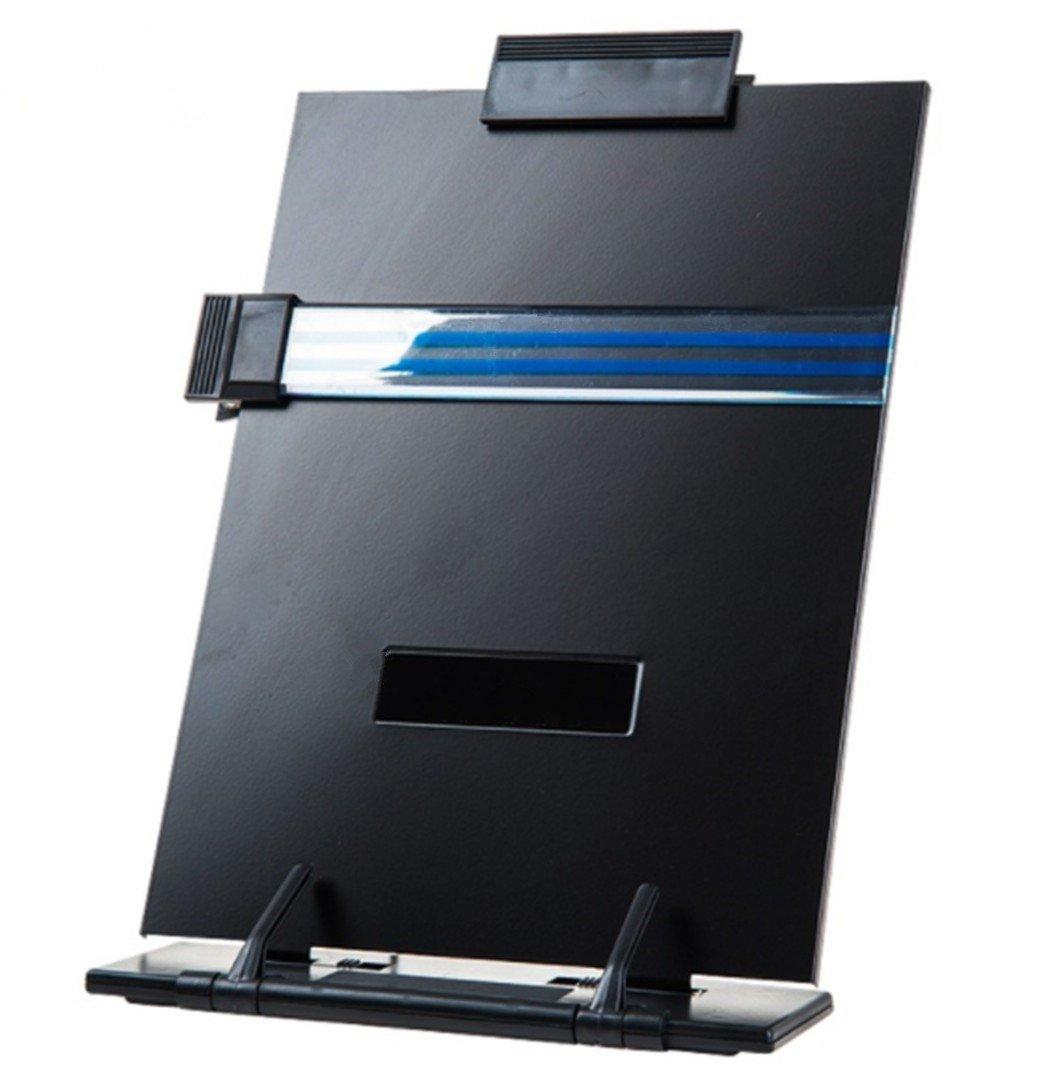 Desktop Copyholder supporto con linee guida e clip amovibile per scrivania, colore: Bianco Grey HYCONCAM