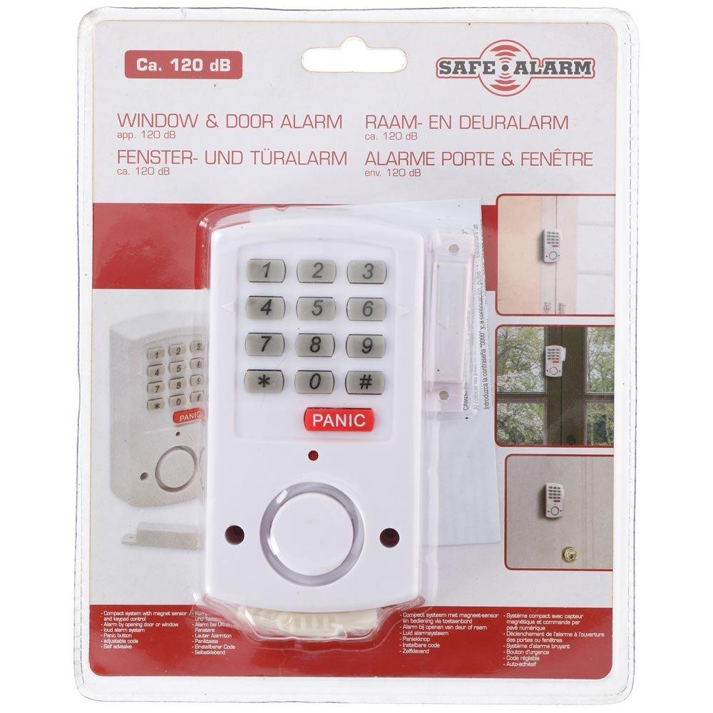 Avec bouton Panic SAFE ALARM D/étecteur douverture porte et fenetre