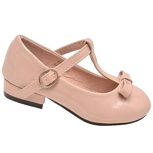 Anna - Merceditas para niña rosa melocotón  Amazon.es  Zapatos y  complementos c321111575b9e