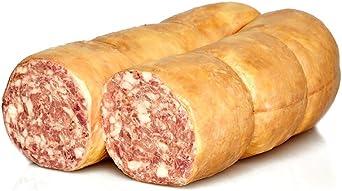 Mortadella de higado cocida, Embutido tipico italiano, mitad, Salumi Pasini1,6 Kg