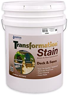 product image for Sashco Transformation Deck and Fence Stain, 5 Gallon Pail, Cedar (Pack of 1)