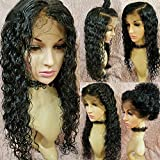Meizi Hair 8A Lace Front Wigs Brazilian Human Hair for Black Women Remy Hair Glueless Full Lace Wigs 130%-180% Density Lace Front Wigs with Baby Hair (20inch with 150% density, Lace Front Wig)