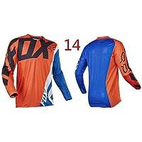 HFJLL Mountain Bike Motocross Jersey Camiseta de Manga