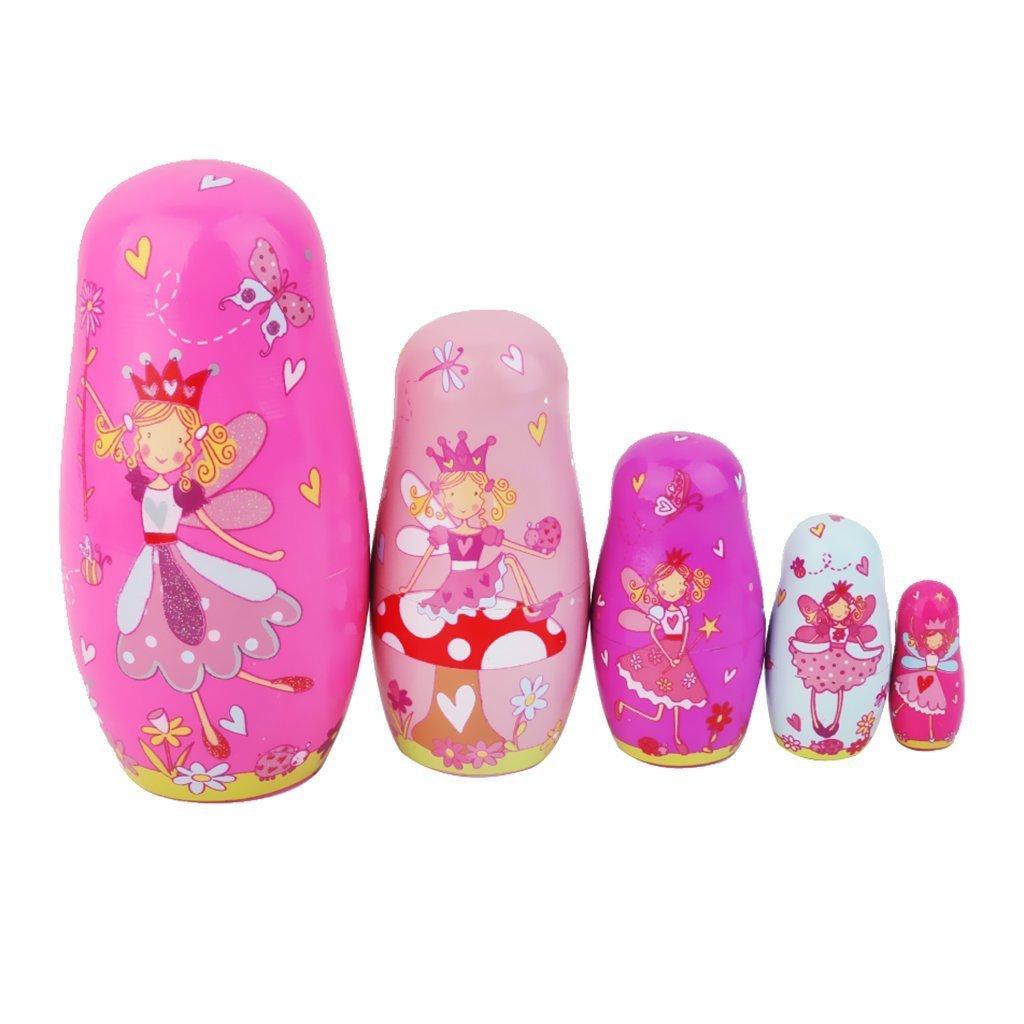 Aistuo bois russe s'imbriquent poupées Matriochkas cadeau fait main coloré 5pcs