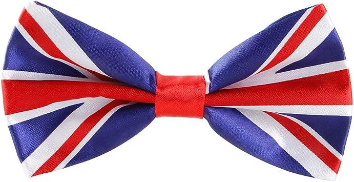 Amosfun Bandera de Reino Unido, Corbata de moño, Cuarto de Julio, Traje de Fiesta para Hombre: Amazon.es: Equipaje