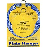 Flatirons Disc Adhesive Plate Hanger Set (2 - 3 Inch and 2 - 4 Inch Hangers)