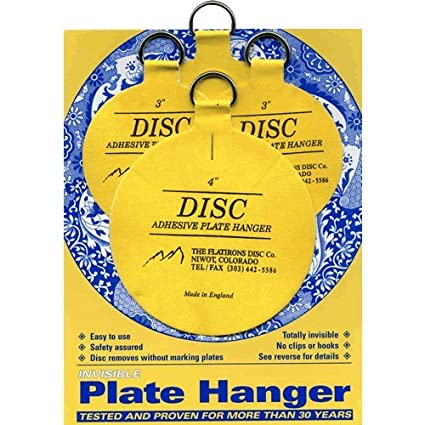 Flatirons Disc Adhesive Plate Hanger Set (2 - 3 Inch and 2 - 4 Inch  sc 1 st  Amazon.com & Flatirons Disc Adhesive Plate Hanger Set (2 - 3 Inch and 2 - 4 Inch ...