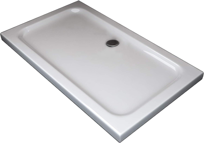 Plato de ducha de plástico ABS, 5 cm de altura, para cabina de ...