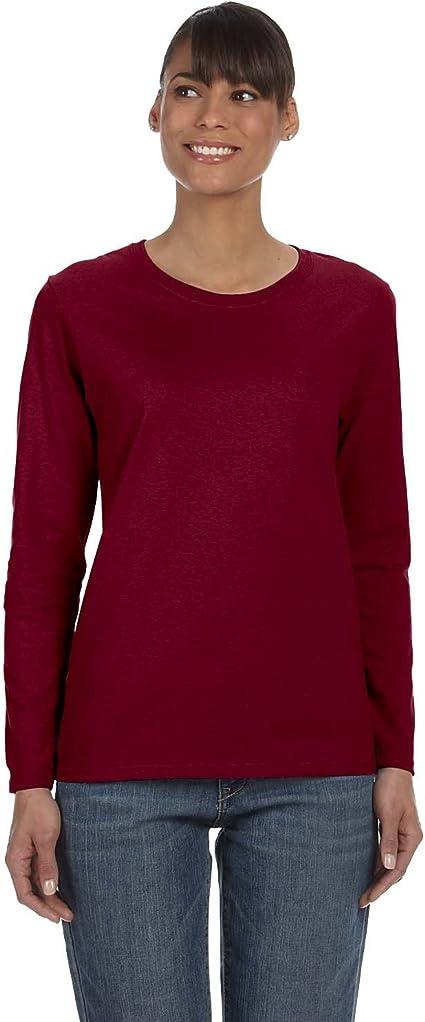 Gildan Ladies Heavy Cotton Missy Fit Long Sleeve T-Shirt Womens Tee S-3XL 5400L