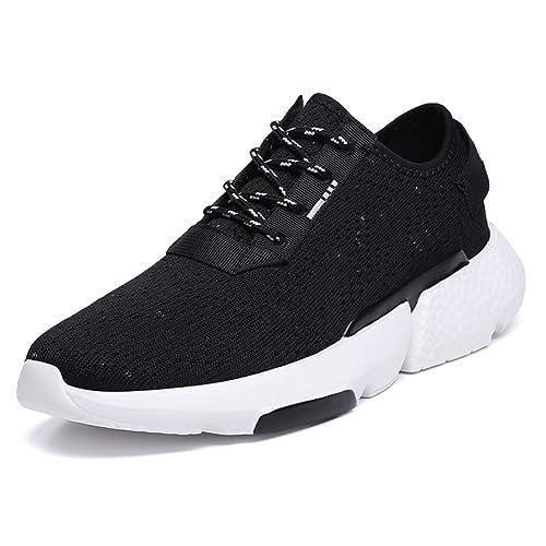 Hombres Zapatillas Correr en Asfalto Deporte Deportivos Running Zapatos Aire Libre Mallas Casual para Sneakers Gimnasio: Amazon.es: Zapatos y complementos