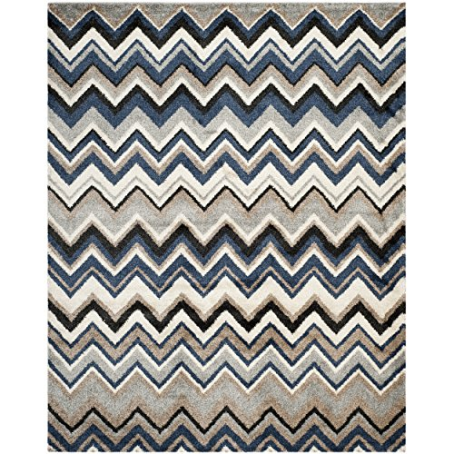 Safavieh Tahoe Collection TAH477D Grey and Light Blue Area Rug (5'1