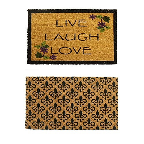 - Rubber-Cal 10-108-020 Coir Entry Door Mats, 18 x 30