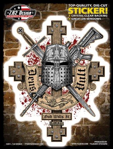 7 62 design deus vult latin for god wills it large sticker decal