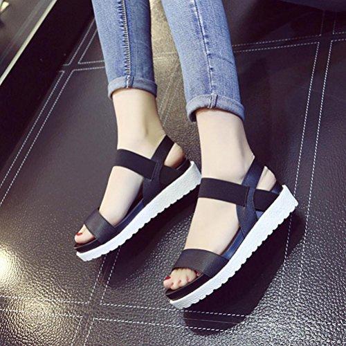 Été Noir Fille Sandales Flats Sandales Cuir Beauty Vieilli Pantoufles Appartement Top Femme Chaussures BeautyTop Dames Femmes Chaussures Plage Chaussures Sandales Plage RZnwZCq1